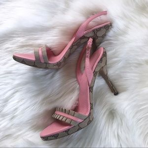 Gucci Canvas Guccissima Heels/Sandals